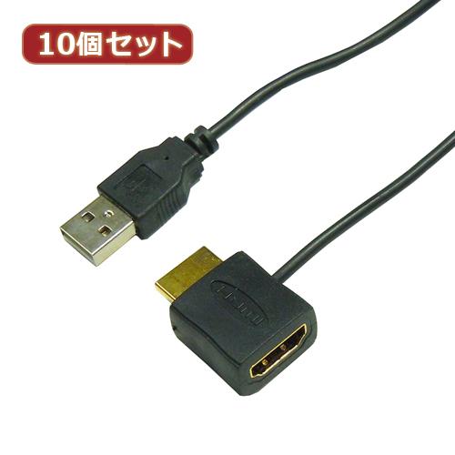 日用品 便利 ユニーク 10個セット HORIC HDMI-USB電源アダプタ HDMI-138USBX10