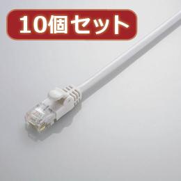 便利雑貨 【10個セット】 Gigabit やわらかLANケーブル(Cat6準拠) LD-GPY/WH3X10