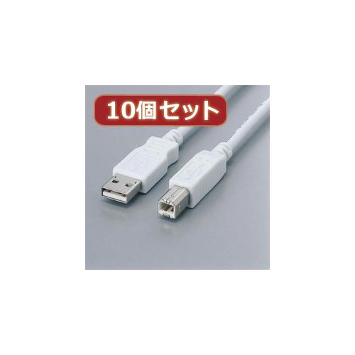 生活関連グッズ 【10個セット】 フェライト内蔵USBケーブル USB2-FS05X10