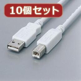 【10個セット】 フェライト内蔵USBケーブル USB2-FS3X10