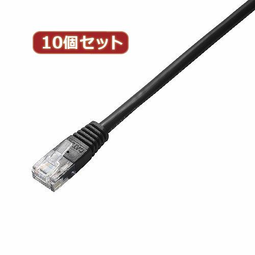 生活関連グッズ 【10個セット】 Cat5e準拠LANケーブル LD-CTN/BK10X10