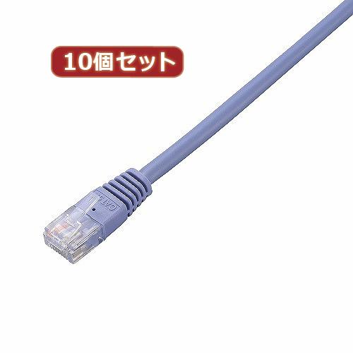生活関連グッズ 【10個セット】 Cat5e準拠LANケーブル LD-CTN/BU10X10