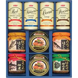 便利雑貨 缶詰びん詰スープ缶ギフトセット C8266128