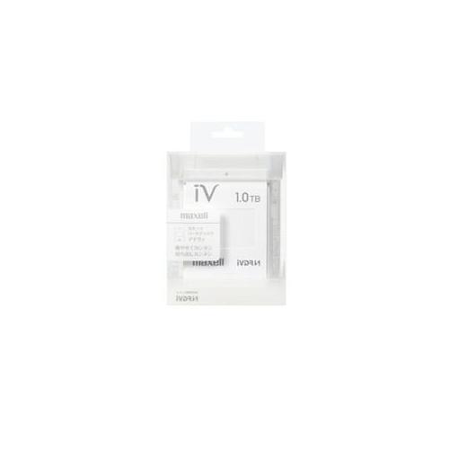 便利雑貨 カセットHDD iV(アイヴィ)カラーシリーズ 1TB ホワイト M-VDRS1T.E.WH