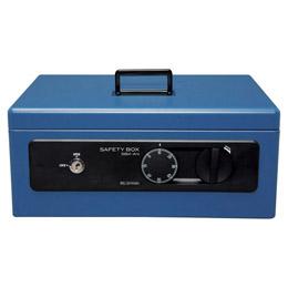 収納家具 関連商品 手提げ金庫A4 ブルー