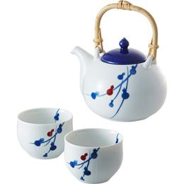 便利雑貨 fucube 茶器セット(染付六ツ瓢) B3020017