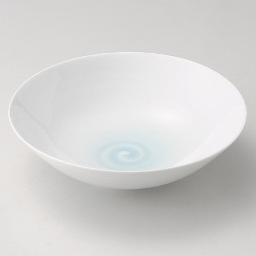青白磁鳴門紋8寸鉢お得 な全国一律 送料無料 日用品 便利 ユニーク