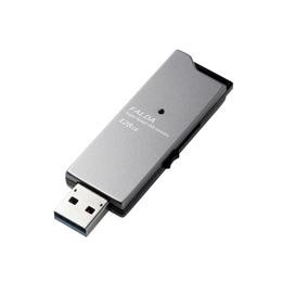 外付けドライブ・ストレージ 関連商品 エレコム USBメモリー/USB3.0対応/スライド式/高速/DAU/128GB/ブラック MF-DAU3128GBK