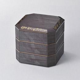 溜塗 さくら 6.0焼杉三段重人気 お得な送料無料 おすすめ 流行 生活 雑貨:創造生活館