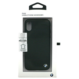 便利雑貨 BMW iPhoneX専用 本革ハードケース Genuine Leather - PC/TPU Hybrid Case - Black IPX BMHCPXGLSCBK