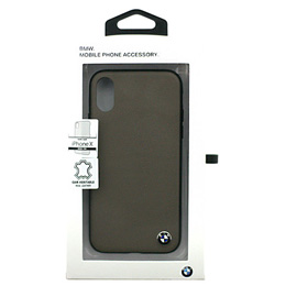 便利雑貨 BMW iPhoneX専用 本革ハードケース Genuine Leather - PC/TPU Hybrid Case - Mocca IPX BMHCPXGLSCTA