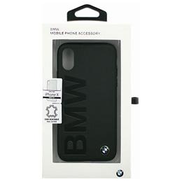 便利雑貨 BMW iPhoneX専用 本革ハードケース PC Hard Case - Logo Imprint - Genuine Leather -Without line same first collection- Black IPX BMHCPXLOB
