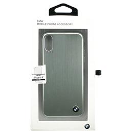 便利雑貨 BMW iPhoneX専用 アルミハードケース PC/TPU Hybrid Case - Brushed Aluminium - Silver IPX BMHCPXSASI