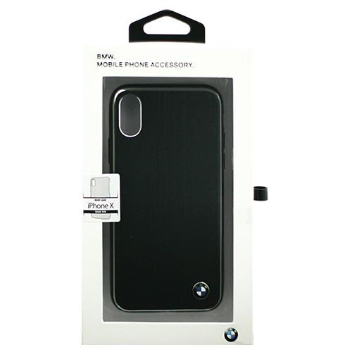 生活関連グッズ BMW iPhoneX専用 アルミハードケース PC/TPU Hybrid Case - Brushed Aluminium - Black IPX BMHCPXSABK