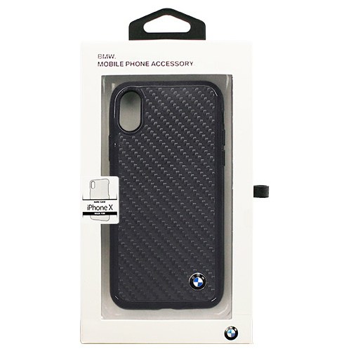 生活関連グッズ BMW 公式ライセンス品 iPhoneX専用 リアルカーボンハードケース PC/TPU Hybrid Case - Real Carbon Fiber IPX BMHCPXMBC