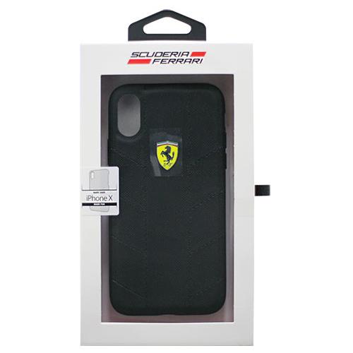 生活関連グッズ Ferrari 公式ライセンス品 iPhoneX専用 ナイロンハードケース FERRARI SF HYRBID CASE IPHONE X RACING TYRES DAPHNE BLACK FESCODHCPXBK