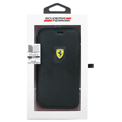 生活関連グッズ Ferrari 公式ライセンス品 iPhoneX専用 ナイロン手帳型ケース SF- Booktype Case - Racing Tyres - Black IPHONE X FESCODFLBKPXBK ケース・カバー スマートフォン・携帯電話用アクセサリー 関連iPhoneXケース iPhone