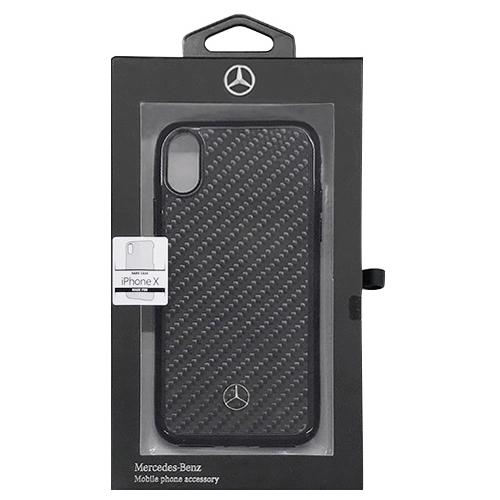 Mercedes 公式ライセンス品 iPhoneX専用 リアルカーボンハードケース Dynamic - Real Carbon fiber - Hard case iPhone X MEHCPXRCABKお得 な全国一律 送料無料 日用品 便利 ユニーク