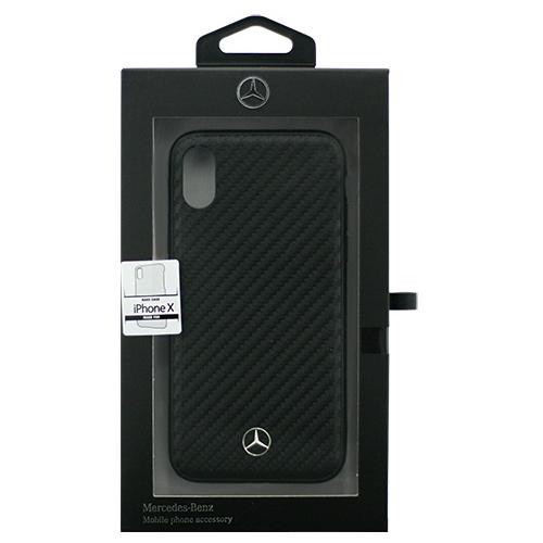 生活関連グッズ Mercedes iPhoneX専用 カーボン調PUハードケース Dynamic - PU Leather - Hard case iPhone X MEHCPXSRCFBK