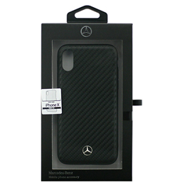 便利雑貨 Mercedes iPhoneX専用 カーボン調PUハードケース Dynamic - PU Leather - Hard case iPhone X MEHCPXSRCFBK