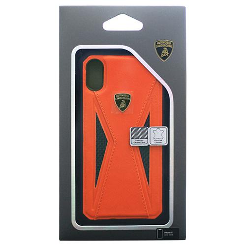 生活関連グッズ Lamborghini 公式ライセンス品 iPhoneX専用 本革ハードケース Aventador-D8 Back cover OELB-TPUPCIPX-AV/D8-OE