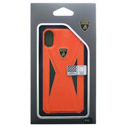 便利雑貨 Lamborghini 公式ライセンス品 iPhoneX専用 本革ハードケース Aventador-D8 Back cover OELB-TPUPCIPX-AV/D8-OE