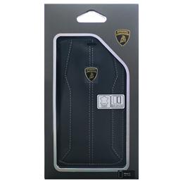 お役立ちグッズ Lamborghini 公式ライセンス品 iPhoneX専用 本革手帳型ケース Huracan-D1 Book type BKLB-SSHFCIPX-HU/D1-BK