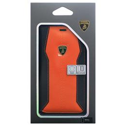 お役立ちグッズ Lamborghini 公式ライセンス品 iPhoneX専用 本革手帳型ケース Huracan-D1 Book type OELB-SSHFCIPX-HU/D1-OE