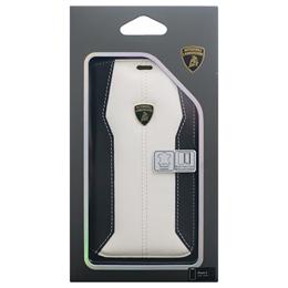 お役立ちグッズ Lamborghini 公式ライセンス品 iPhoneX専用 本革手帳型ケース Huracan-D1 Book type WHLB-SSHFCIPX-HU/D1-WE