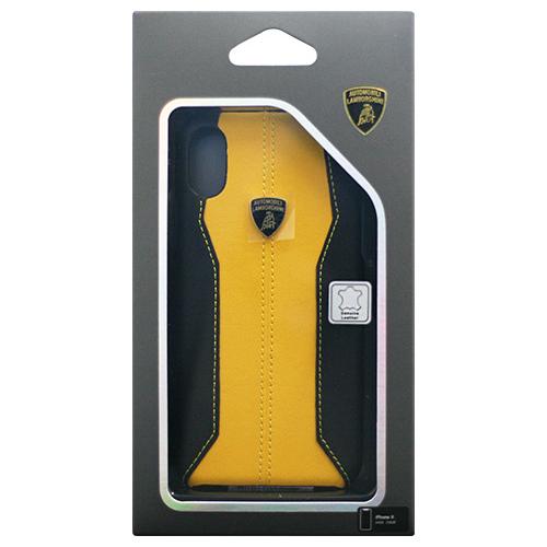 生活関連グッズ Lamborghini 公式ライセンス品 iPhoneX専用 本革ハードケース Huracan-D1 Back cover YWLB-HCIPX-HU/D1-YW