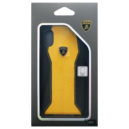 便利雑貨 Lamborghini 公式ライセンス品 iPhoneX専用 本革ハードケース Huracan-D1 Back cover YWLB-HCIPX-HU/D1-YW