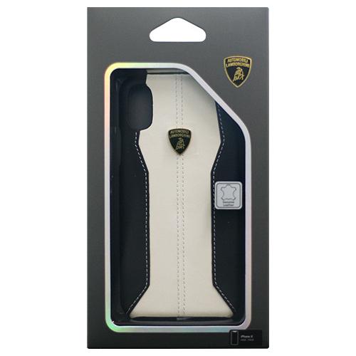 生活関連グッズ Lamborghini 公式ライセンス品 iPhoneX専用 本革ハードケース Huracan-D1 Back cover WHLB-HCIPX-HU/D1-WE