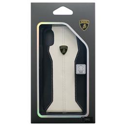 お役立ちグッズ Lamborghini 公式ライセンス品 iPhoneX専用 本革ハードケース Huracan-D1 Back cover WHLB-HCIPX-HU/D1-WE