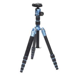 便利雑貨 ランボー5段三脚S ライトブルー VE-2136