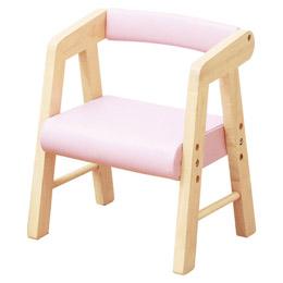 日用品雑貨 関連商品 キッズPVCチェアー(肘付き) ピンク