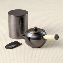 純銅急須&茶筒セット