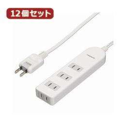 便利雑貨 【12個セット】 ブレーカー付テーブルタップ Y02BS403WHX12