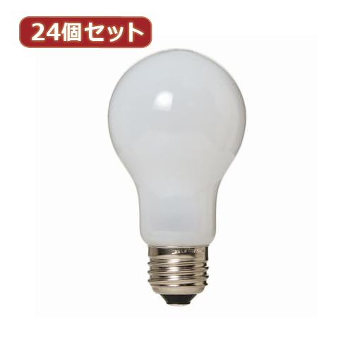 日用品 便利 ユニーク YAZAWA 24個セット 長寿命シリカ100W形 LW100V100WWLX24