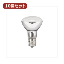 便利雑貨 YAZAWA 10個セット 長寿命ミニレフ球 R451710LX10 ライト・照明器具 インテリア・寝具・収納 関連その他の照明器具 照明器具 家電