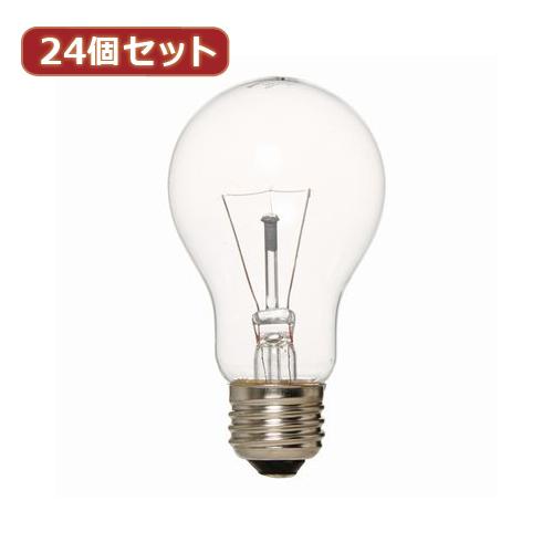 生活関連グッズ YAZAWA 24個セット 長寿命クリア60W形 L100V60WCLX24 ライト・照明器具 インテリア・寝具・収納 関連その他の照明器具 照明器具 家電