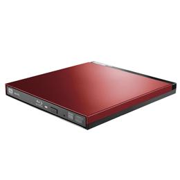 便利雑貨 Blu-rayディスクドライブ/USB3.0/スリム/書込みソフト付/レッド LBD-PUD6U3LRD