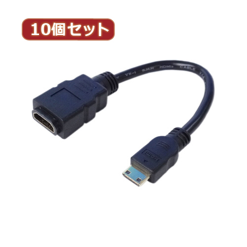 生活関連グッズ 【10個セット】 miniHDMI変換ケーブル 20 HDMIB-M2G2X10