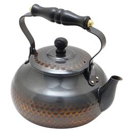 便利雑貨 赤銅仕上木柄湯沸し