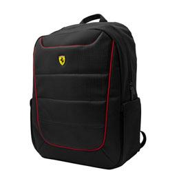 便利雑貨 Ferrari 公式ライセンス品 15インチノートパソコン用リュック ブラック FEBP15BK