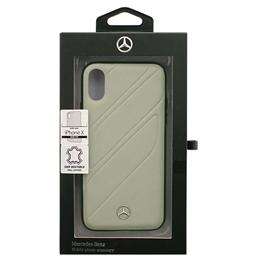 便利雑貨 iPhoneX専用 本革ハードケース ORGANIC I - Genuine leather Hard Case - Crystal Grey iPhone X MEHCPXTHLGR