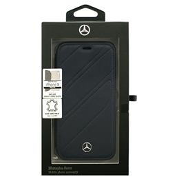 便利雑貨 Mercedes 公式ライセンス品 iPhoneX専用 本革手帳型ケース NEW ORGANIC I - Genuine leather Booktype Case - Blue Abyss iPhone X MEFLBKPXTHLNA ケース・カバー スマートフォン・携帯電話用アクセサリー 関連iPhoneXケース iPhone