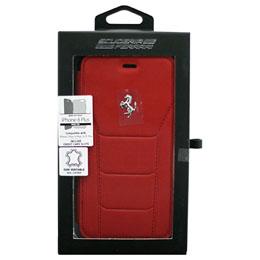 お役立ちグッズ iPhone8 Plus/7 Plus/6s Plus/6 Plus専用 488 本革手帳型ケース 488 - Booktype Case - Red Genuine Leather - Red Stitches - Silver Logo FESEFLBKI8LRE