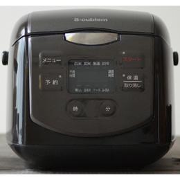 便利雑貨 4合炊きマイコン式炊飯器 ブラック SCR-H40B