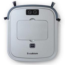 お役立ちグッズ 床用薄型 ロボット掃除機 シルバーメタリック / ガンメタリック SCC-R05SM