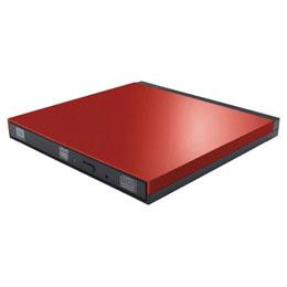 DVDディスクドライブ/USB3.0/PUEシリーズ/M-DISC対応/書き込みソフト付/レッド LDR-PUE8U3LRD